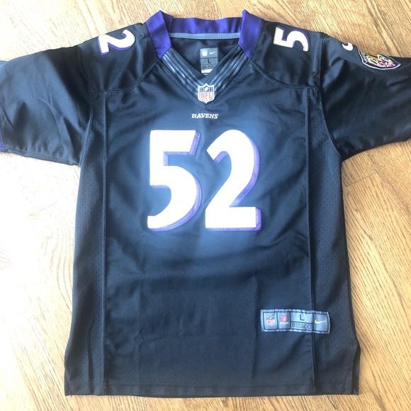 NIKE Baltimore Ravens LEWIS 52 stitched jersey Lg